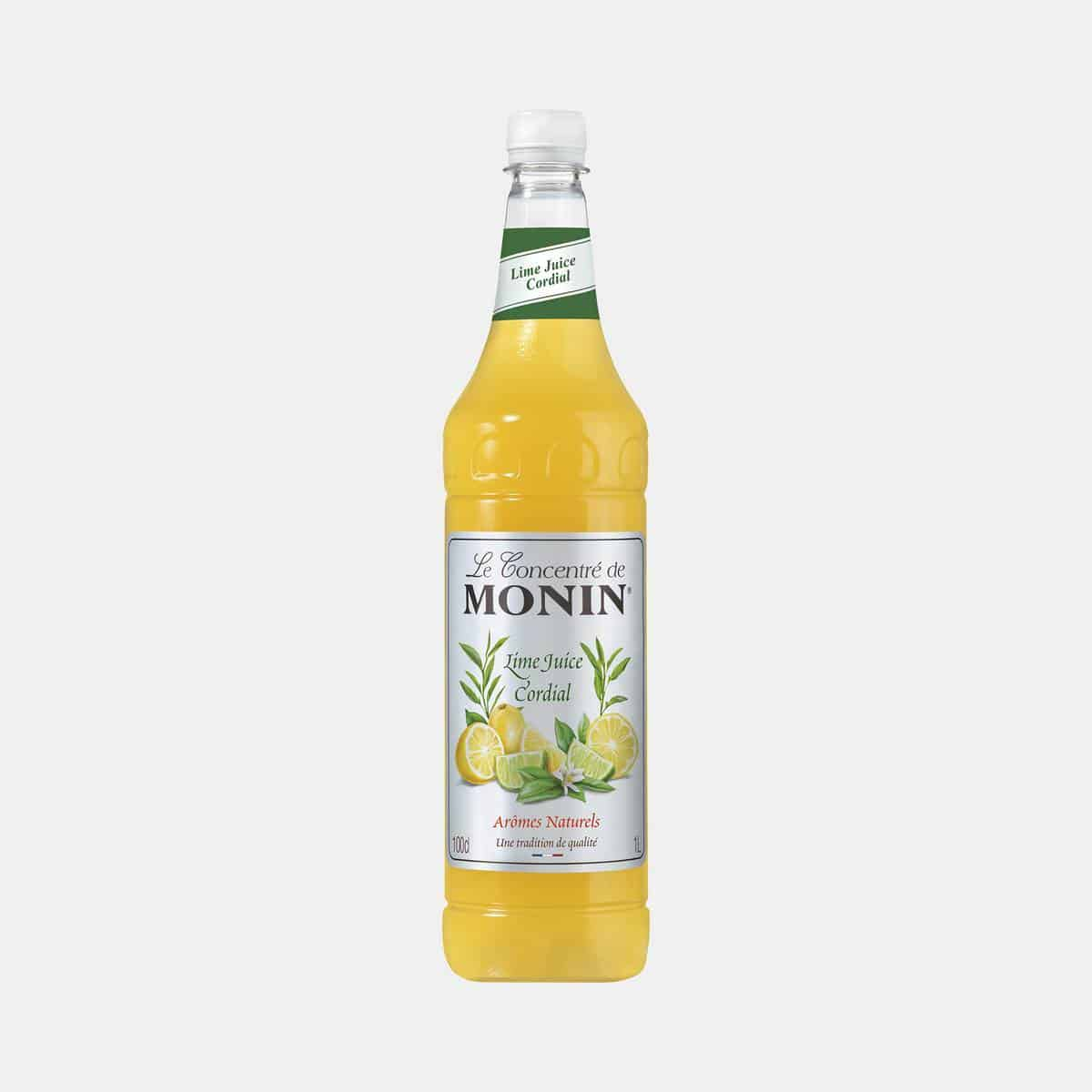 Monin Lime Juice Concentrate 1 Liter PET Bottle