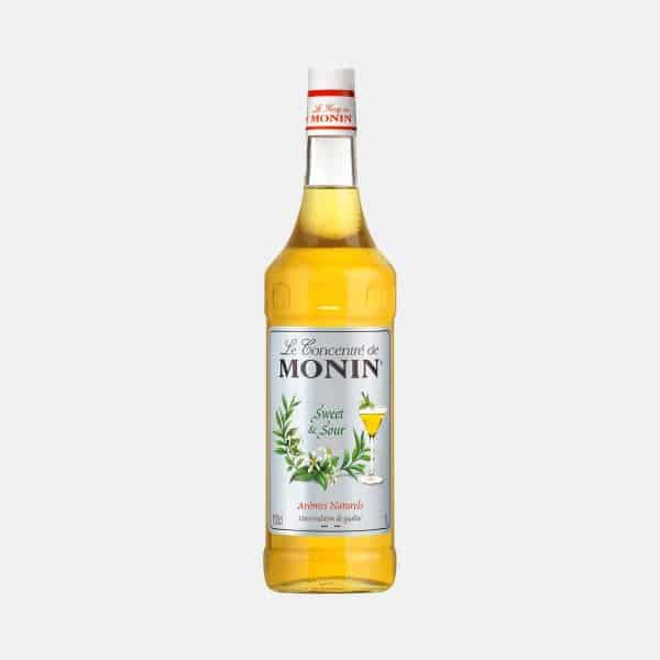 Monin Sweet and Sour Concentrate 1 Liter Glass Bottle