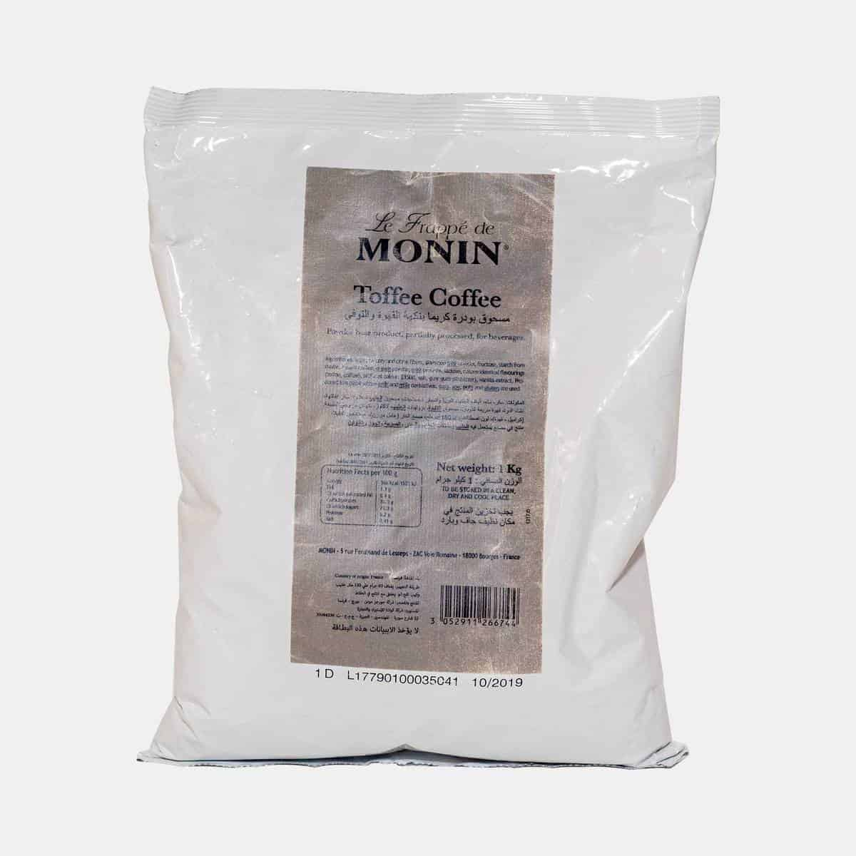 Monin Toffee Coffee Frappe Base Powder Sealed Bag