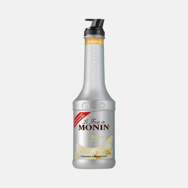 Monin Banana Puree Fruit Mix 1 Liter Bottle