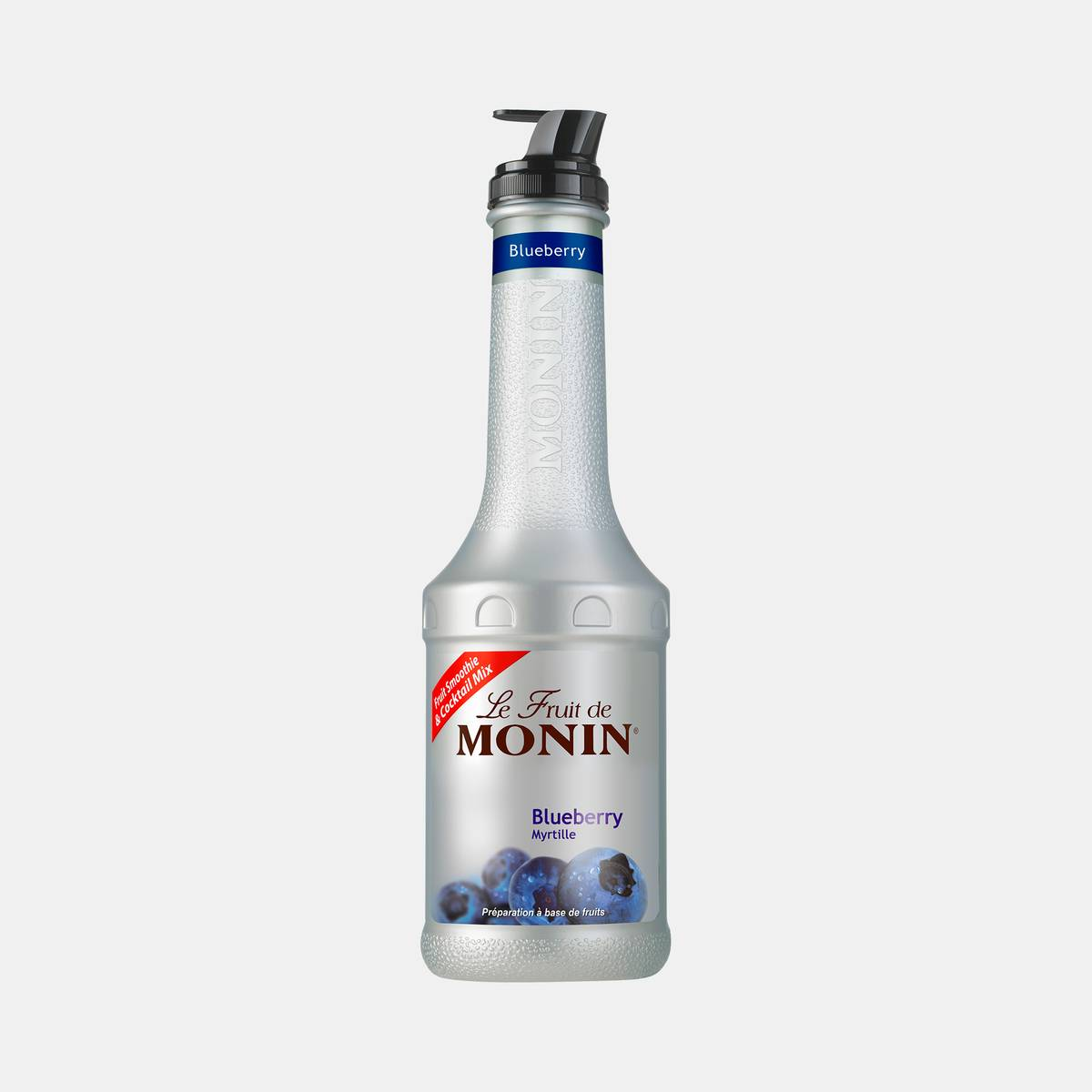 Monin Blueberry Puree Fruit Mix 1 Liter Bottle