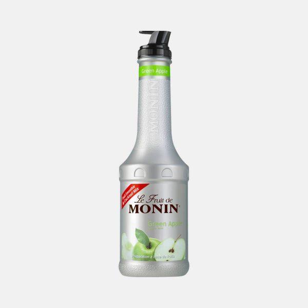 Monin Green Apple Puree Fruit Mix 1 Liter Bottle
