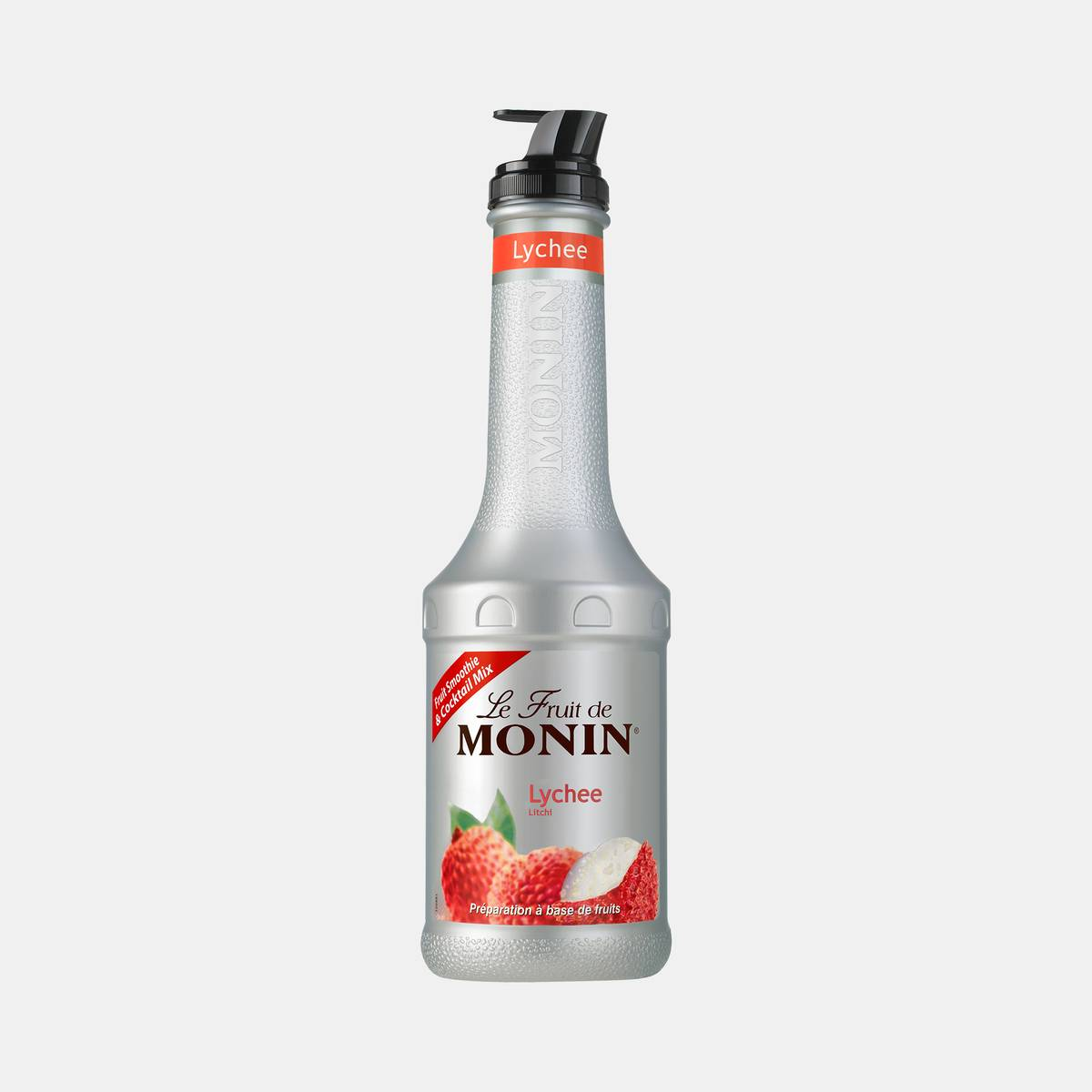 Monin Lychee Puree Fruit Mix 1 Liter Bottle