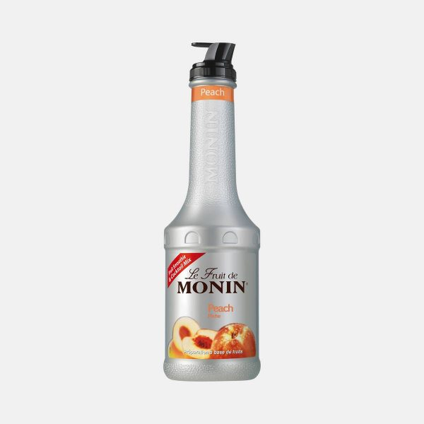 Monin Peach Puree Fruit Mix 1 Liter Bottle