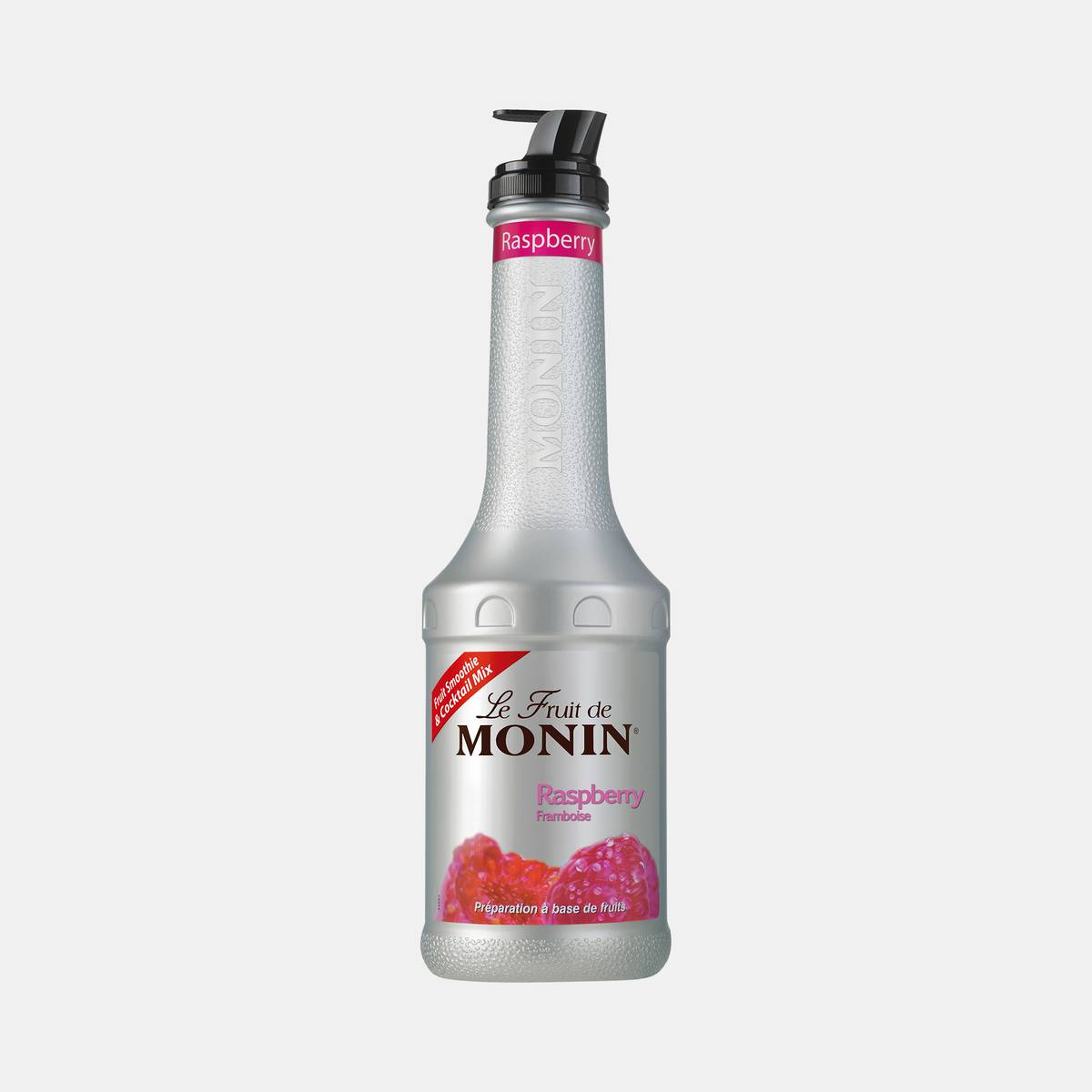 Monin Raspberry Puree Fruit Mix 1 Liter Bottle