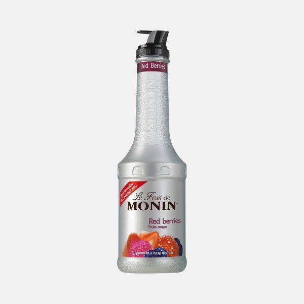 Monin Red Berries Puree Fruit Mix 1 Liter Bottle