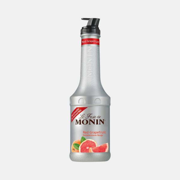 Monin Red Grapefruit Puree Fruit Mix 1 Liter Bottle