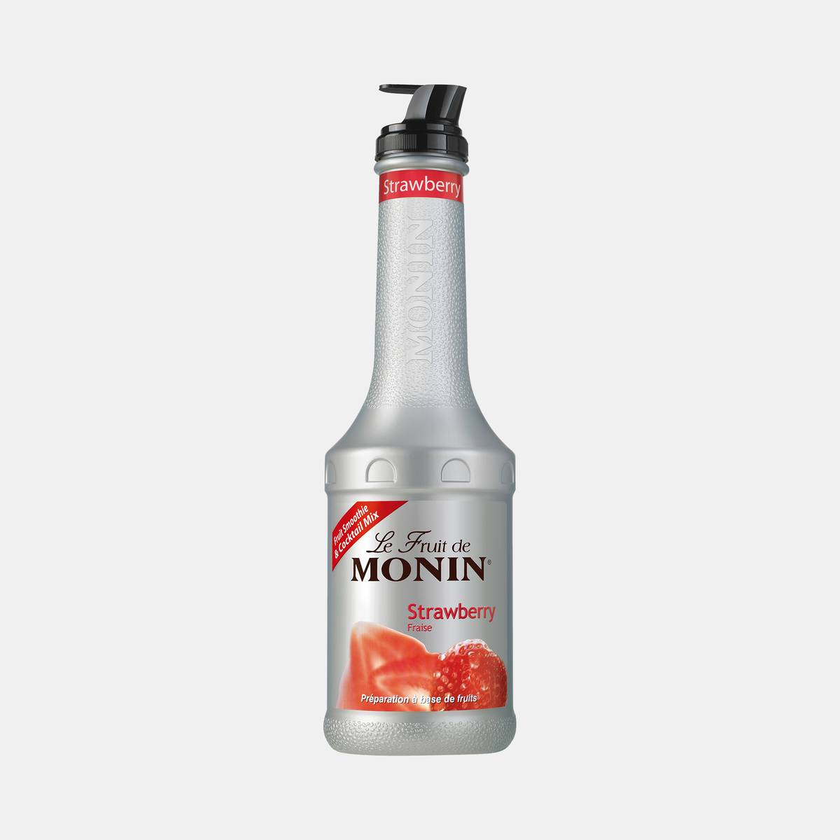 Monin Strawberry Puree Fruit Mix 1 Liter Bottle