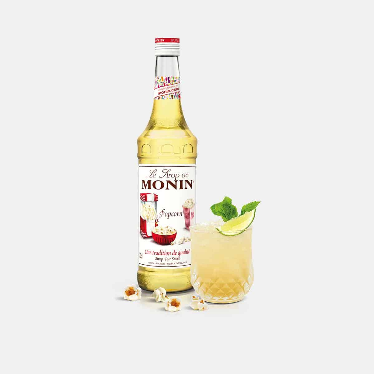 Monin 700ml Popcorn Syrup with Drink Application