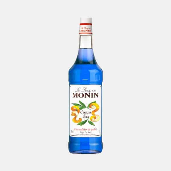 Monin Blue Curacao Syrup 1 Liter Glass Bottle