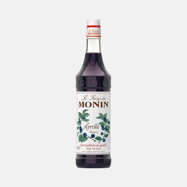 Monin Blueberry Syrup 1 Liter Glass Bottle
