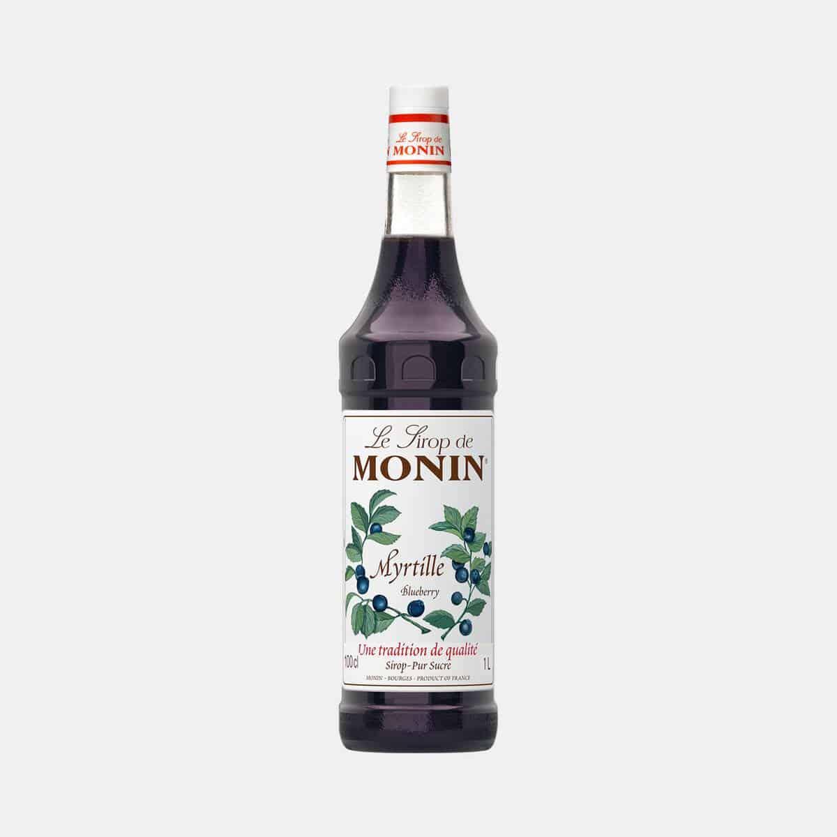 Monin Blueberry Syrup 1 Liter Glass Bottle