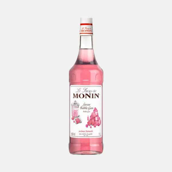 Monin Bubble Gum Syrup 1 Liter Glass Bottle