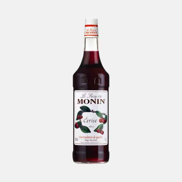 Monin Cherry Syrup 1 Liter Glass Bottle