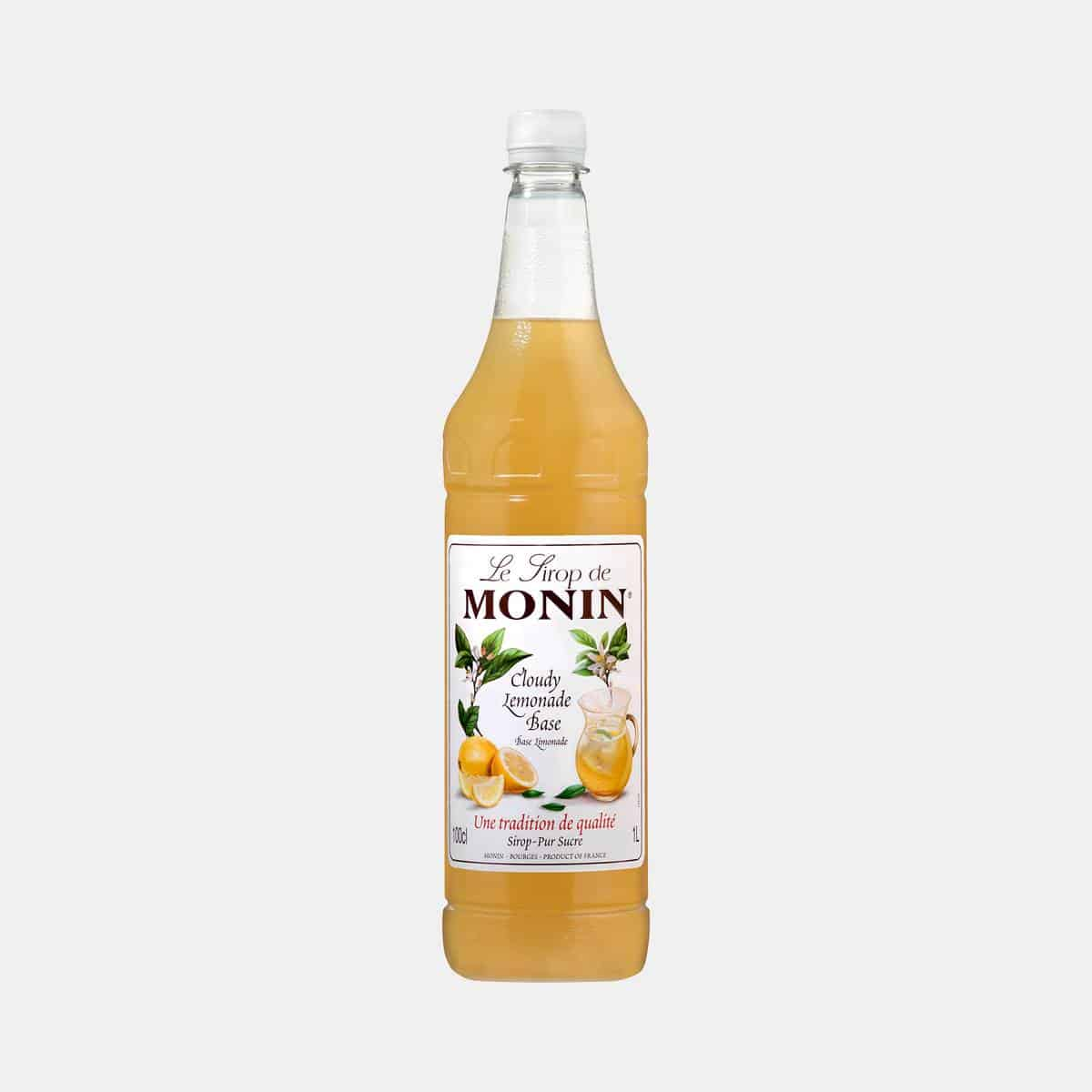 Monin Cloudy Lemonade Base Syrup 1 Liter PET Bottle