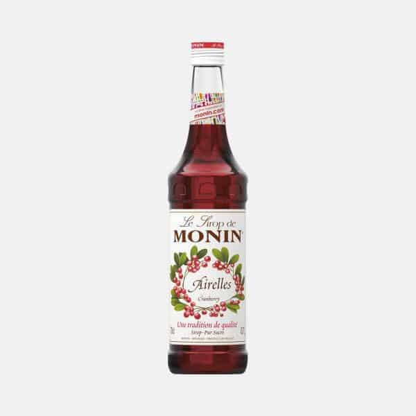 Monin Cranberry Syrup 700ml Glass Bottle