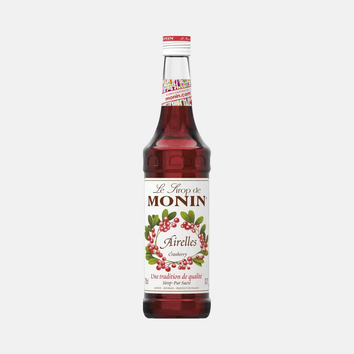 Monin Cranberry Syrup 700ml Glass Bottle