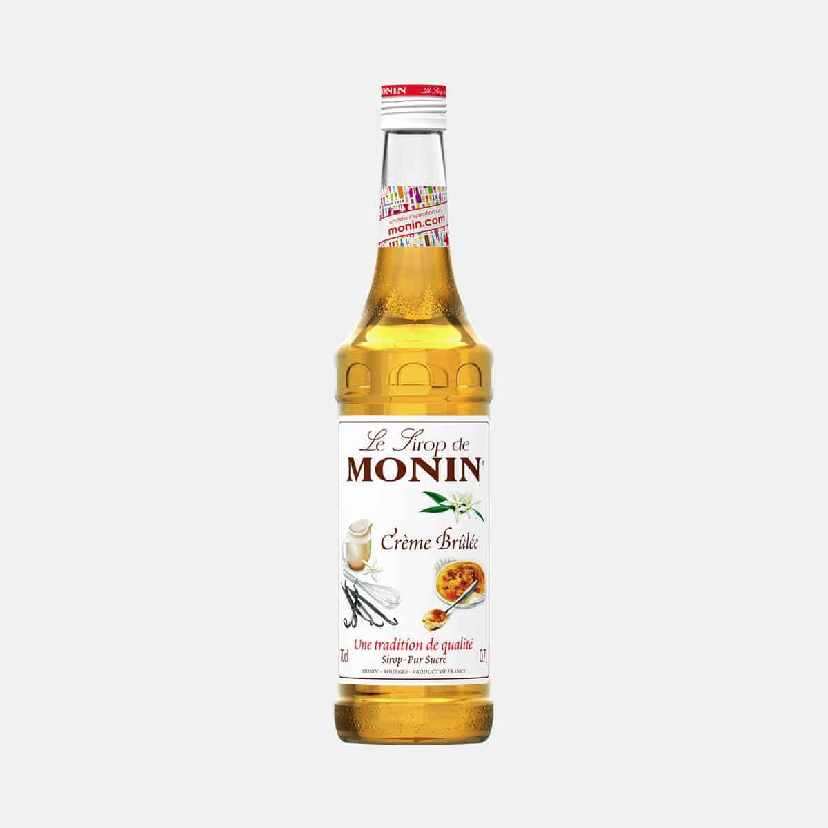 Monin Creme Brulee Syrup 700ml Glass Bottle