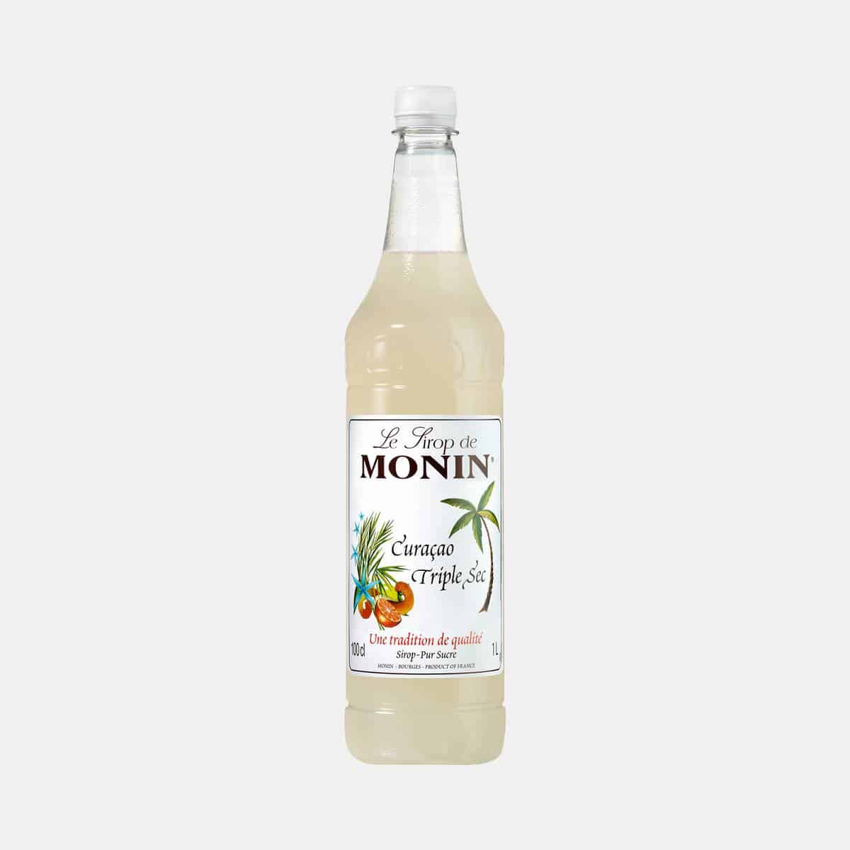Monin Curaçao Triple Sec Syrup 1 Liter PET Bottle