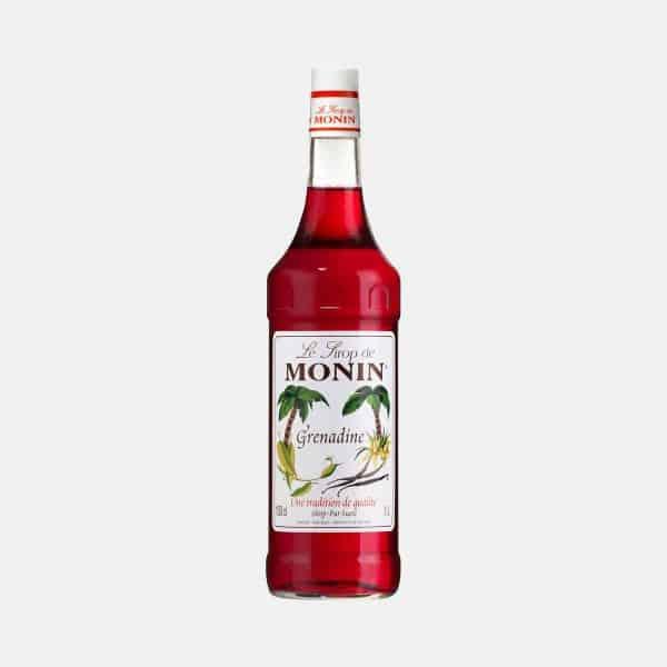 Monin Grenadine Syrup 1 Liter Glass Bottle