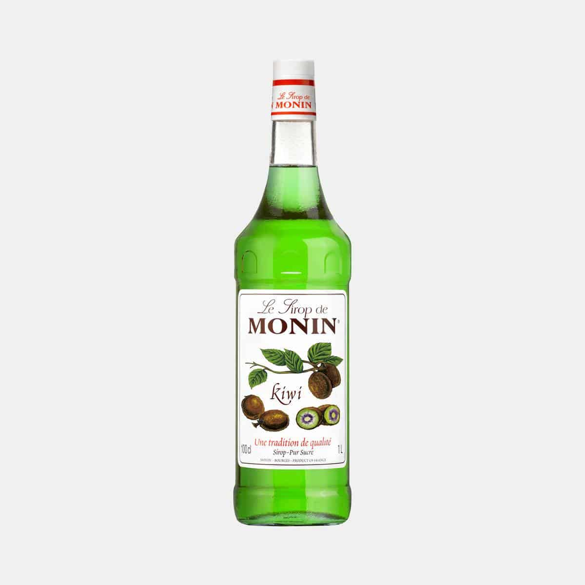 Monin Kiwi Syrup 1 Liter Glass Bottle