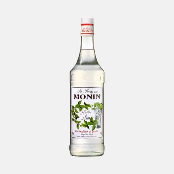 Monin Mojito Mint Syrup 1 Liter Glass Bottle