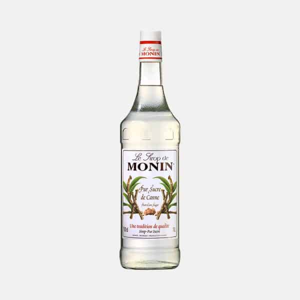 Monin Pur Cane Sugar Syrup 1 Litre Glass Bottle