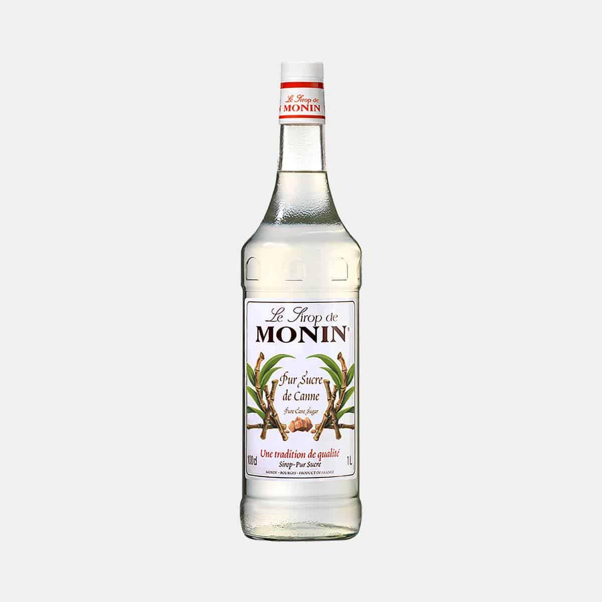 Monin Pur Cane Sugar Syrup 1 Litre Glass Bottle