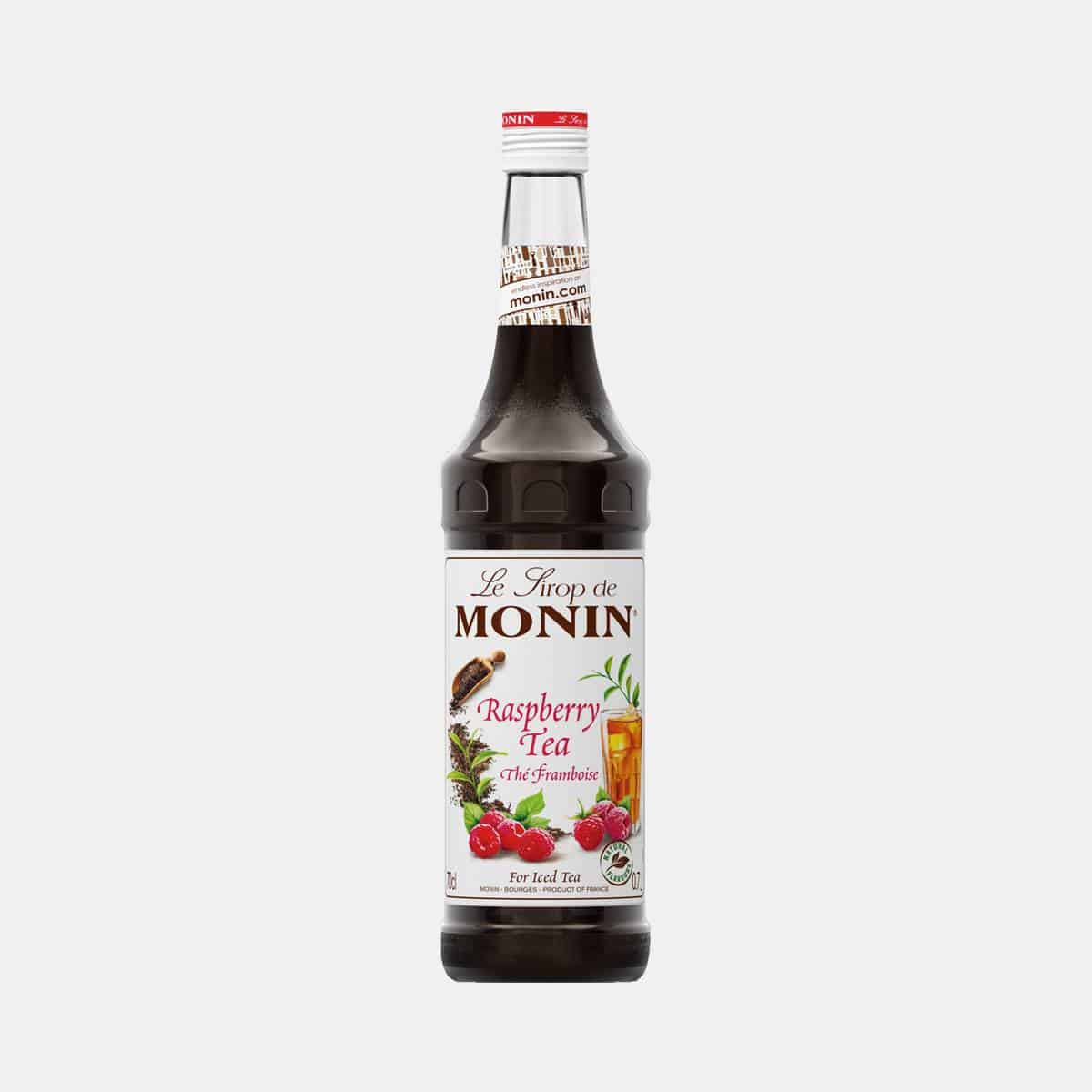 Monin Raspberry Tea Syrup 700ml Glass Bottle