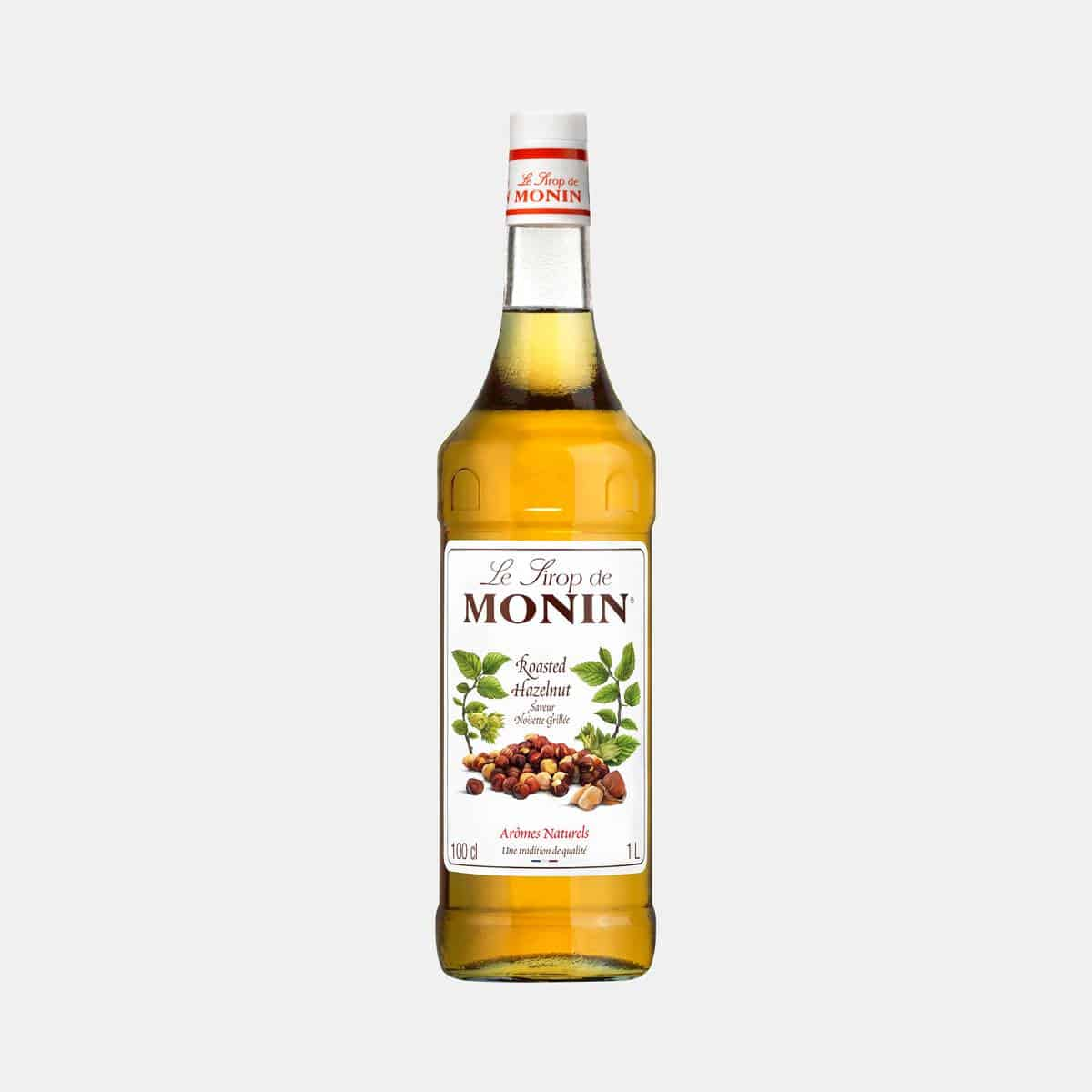 Monin Roasted Hazelnut Syrup 1 Liter Glass Bottle
