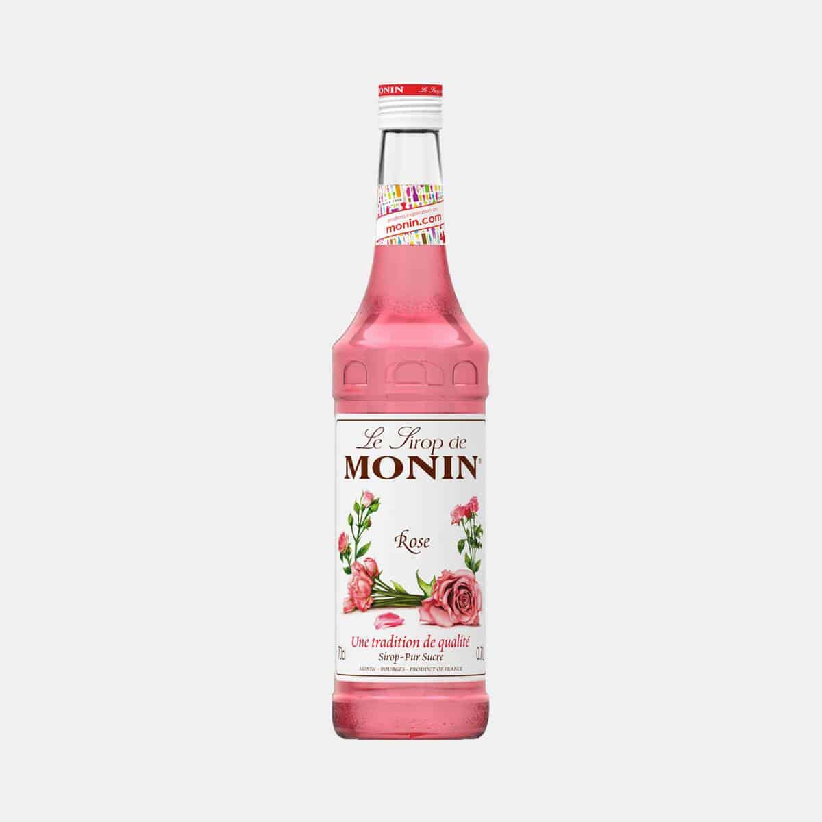 Monin Rose Syrup 700ml Glass Bottle
