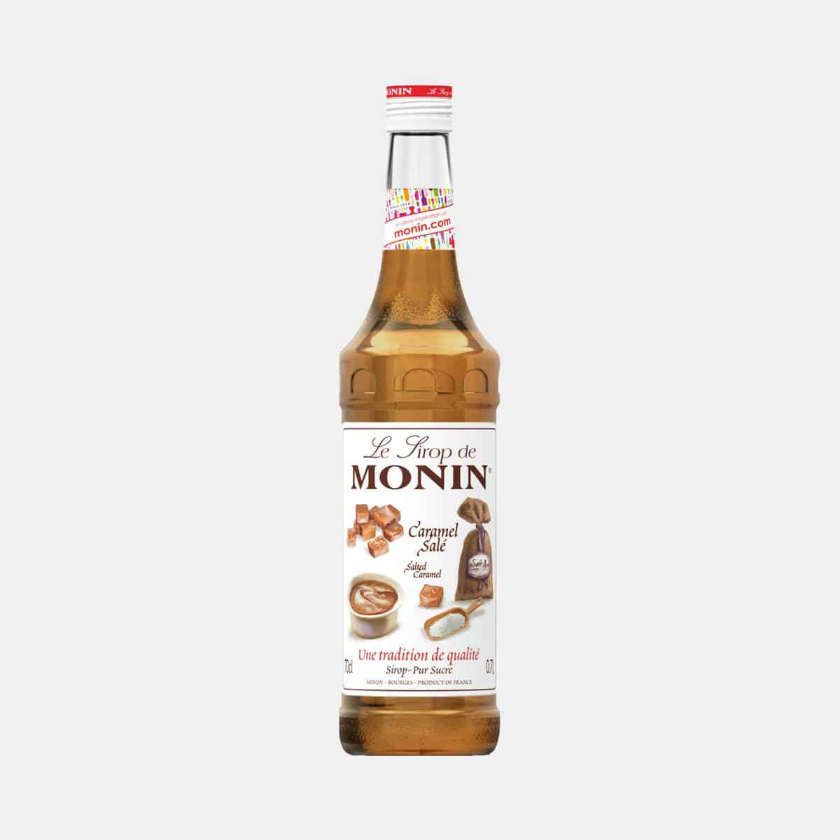 Monin Salted Caramel Syrup 700ml Glass Bottle