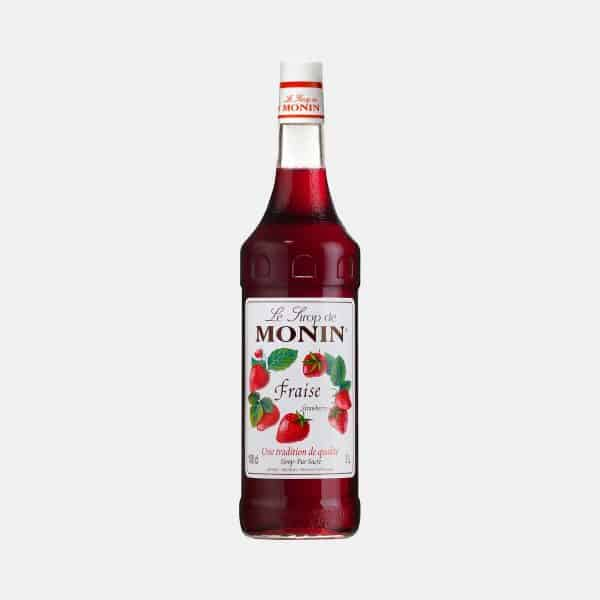 Monin Strawberry Syrup 1 Liter Glass Bottle