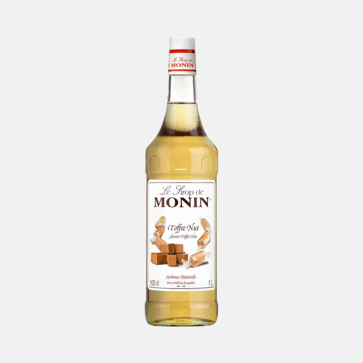 Monin Toffee Nut Syrup 1 Liter Glass Bottle