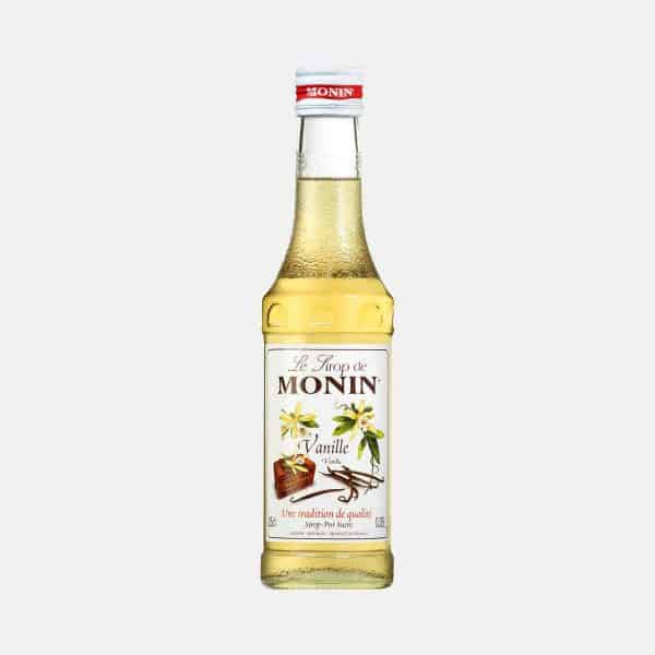 Monin Vanilla Syrup 250ml Glass Bottle