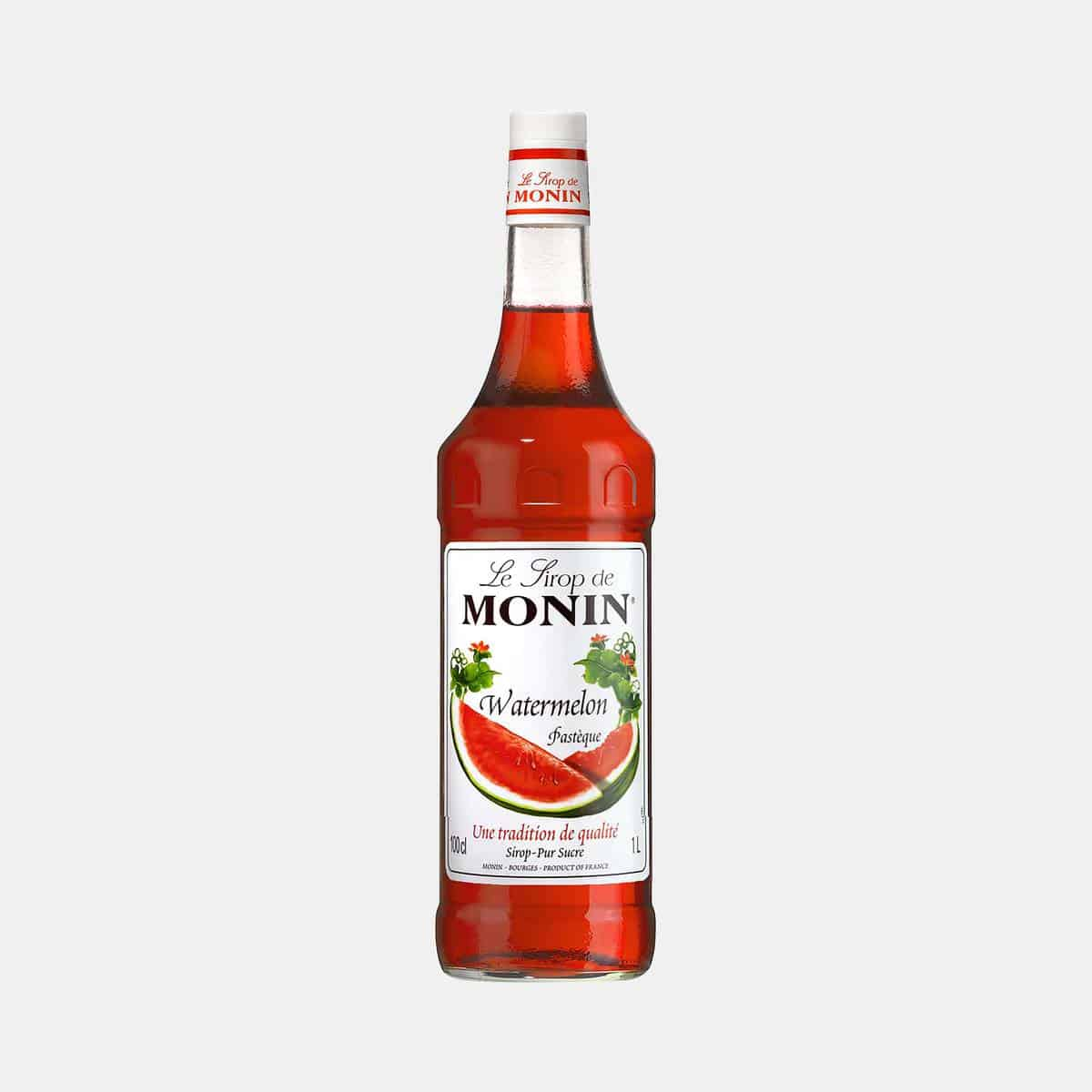 Monin Watermelon Syrup 1L Glass Bottle