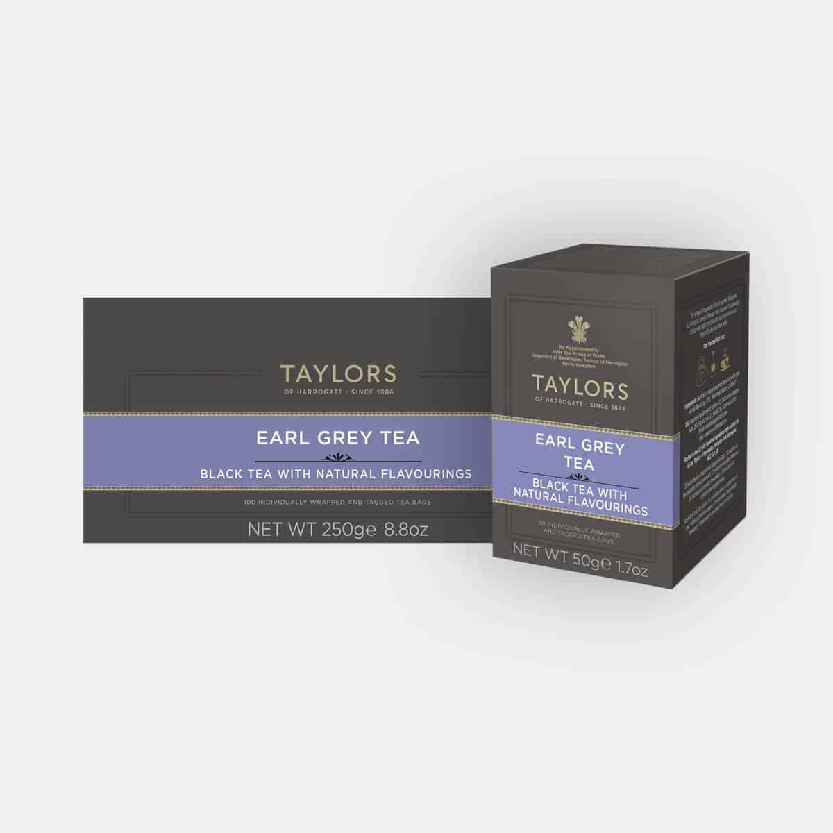 Taylors of Harrogate Earl Grey Tea 100s & 20s Packs