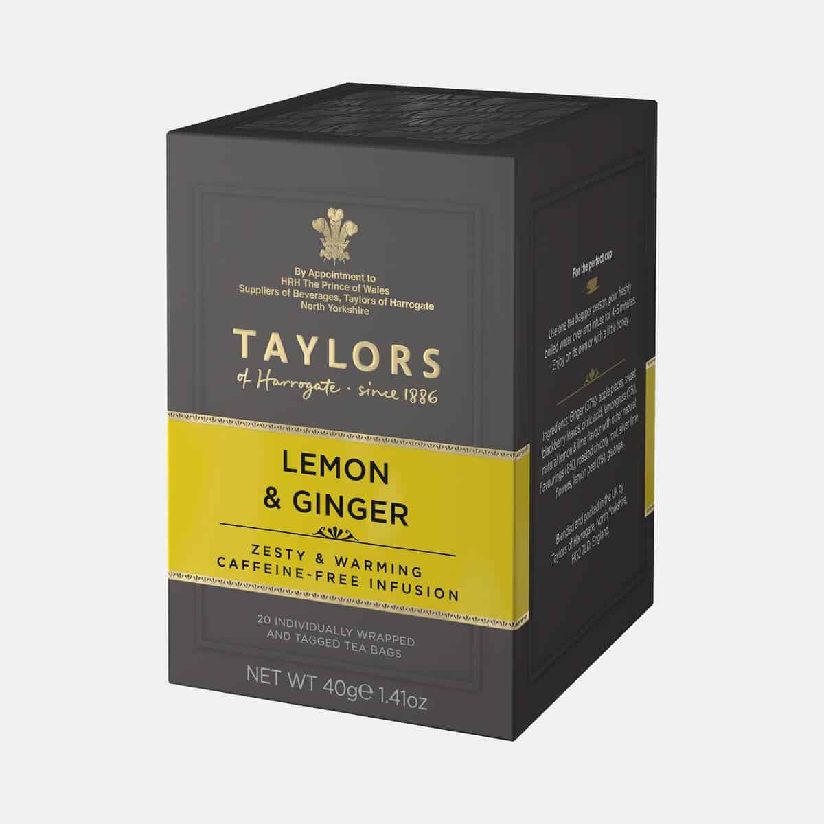 Taylors of Harrogate Lemon & Ginger Tea 40g