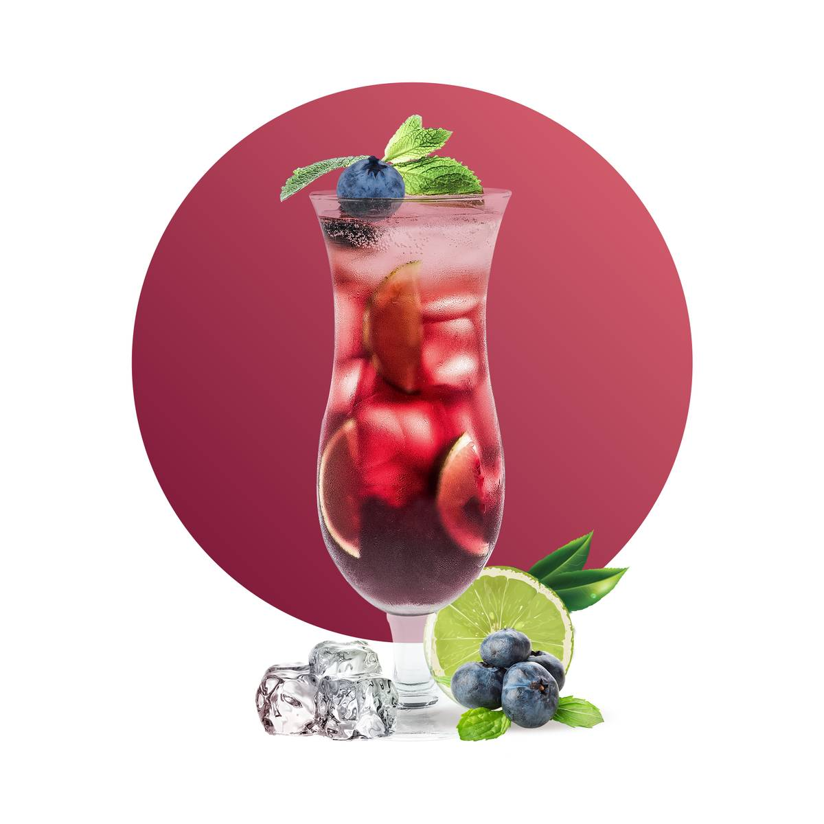Blueberry Lime Iced Tea Drink Recipe