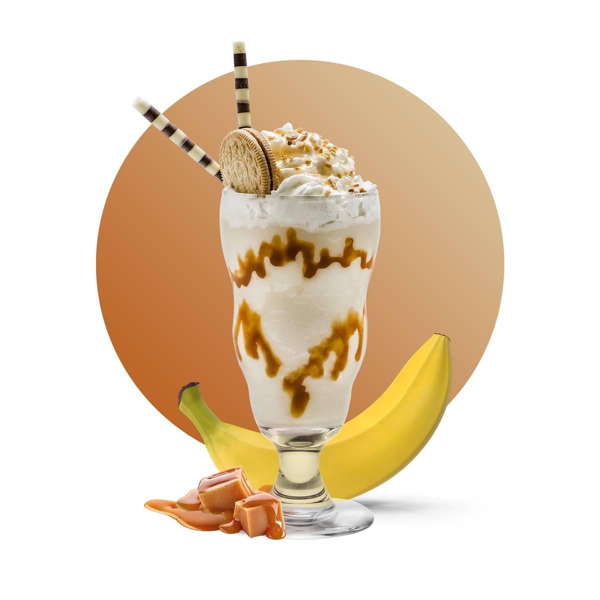 Caramel Banana Milkshake Drink Recipe