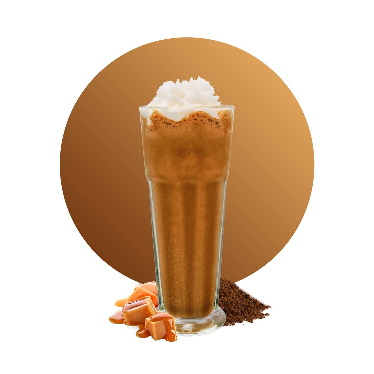 Caramel Coffee Frappe Drink Recipe