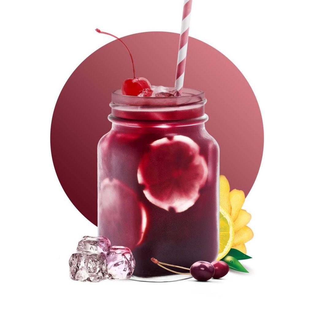 Cherry Ginger Lemonade Drink Recipe