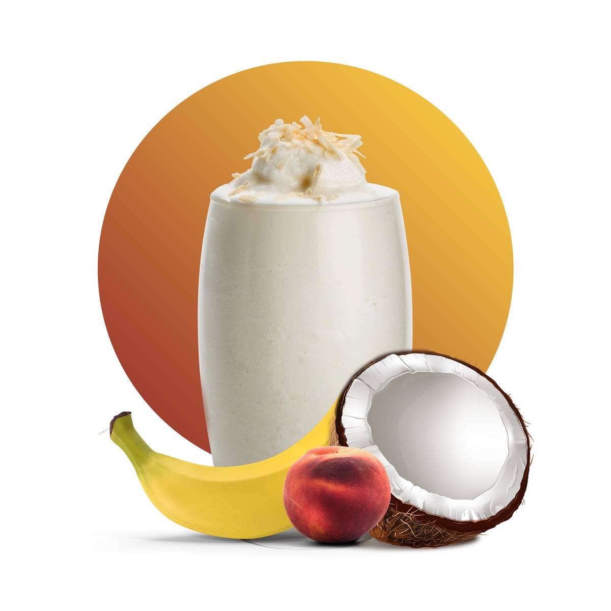 Coconut Milk Peach Banana Drink