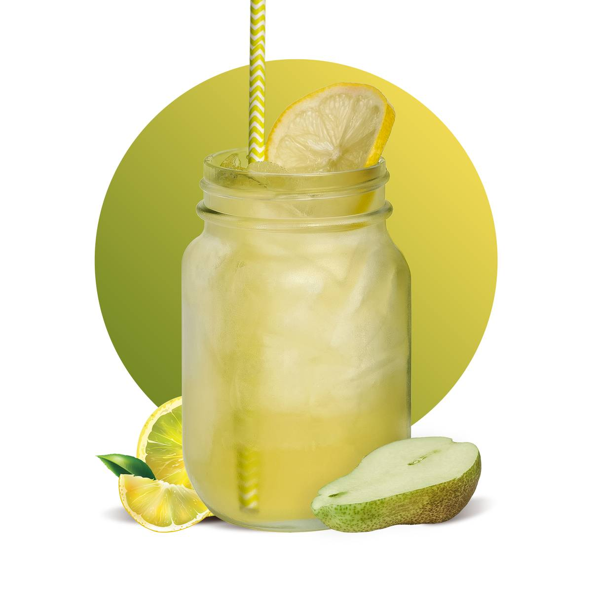 Coconut Pear Lemonade Drink