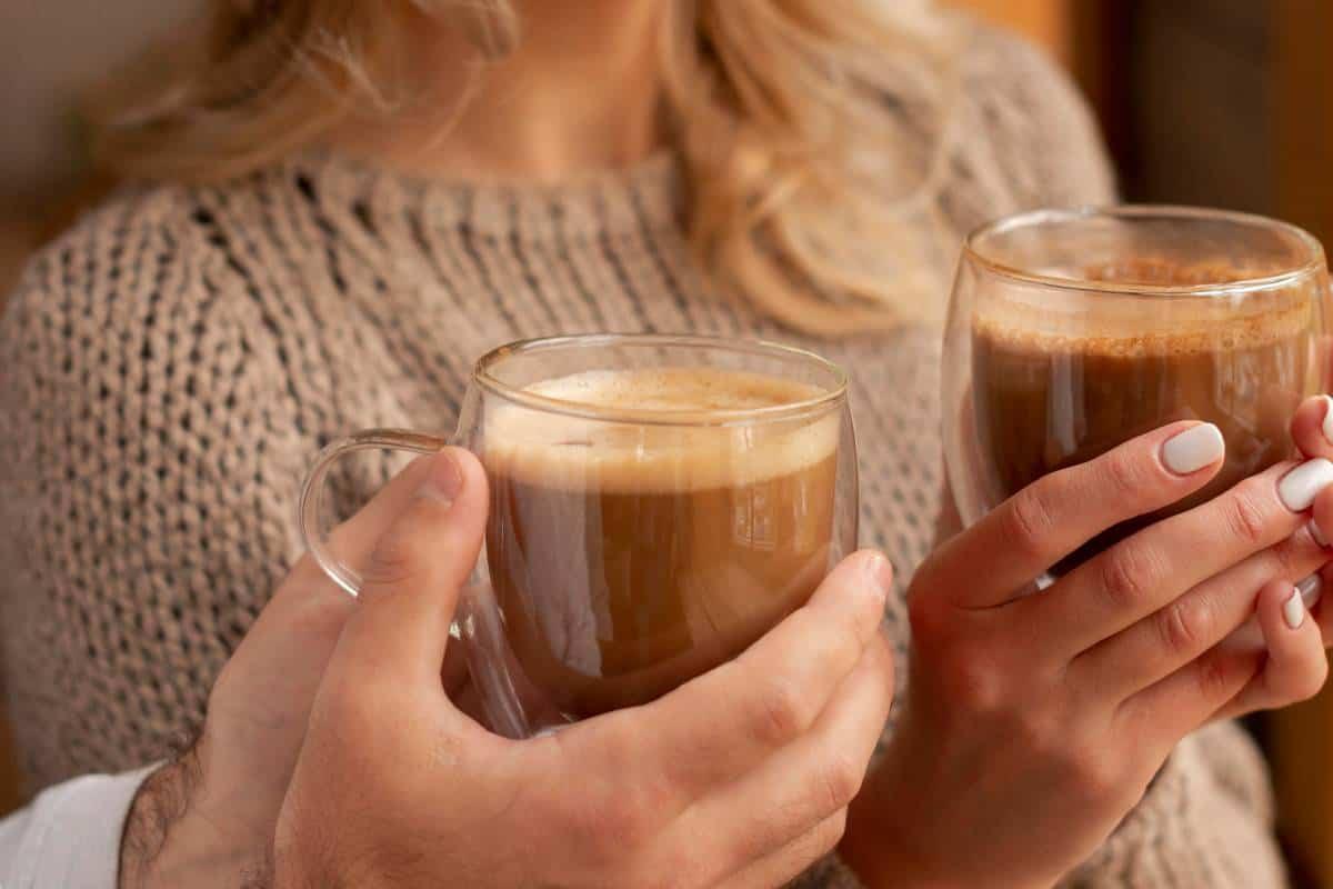 Coffee Lovers Couple Enjoying their Coffee Drink