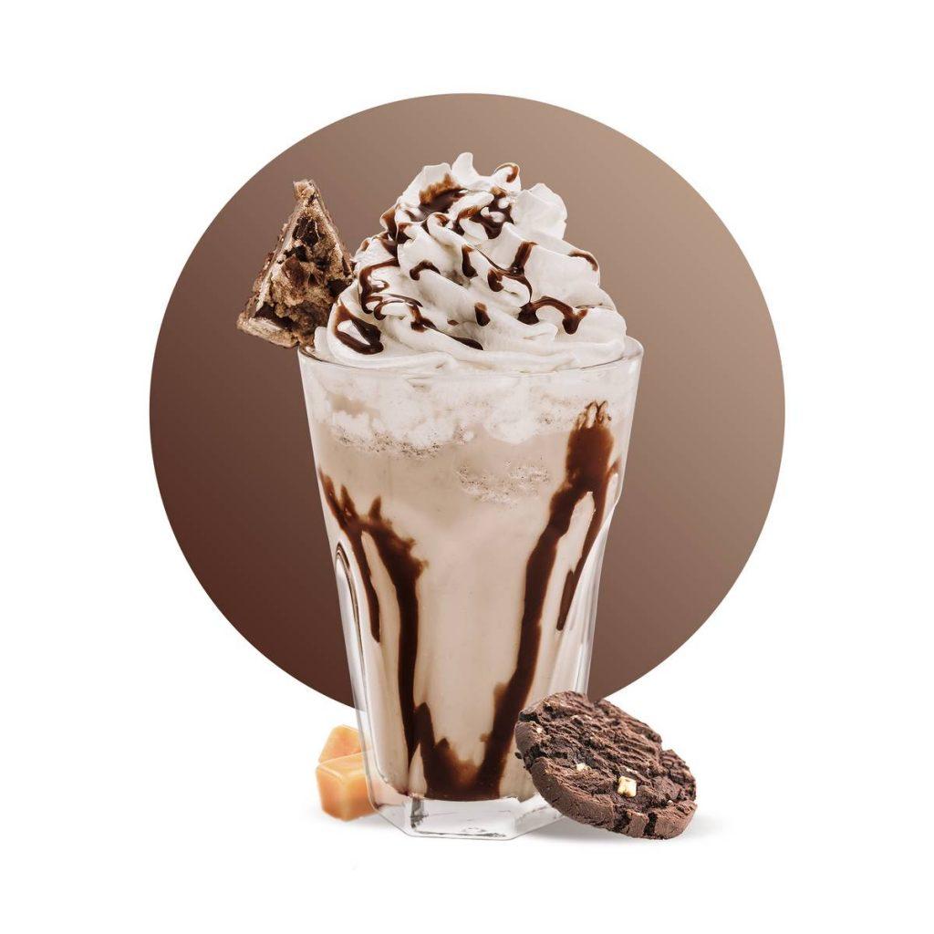 Cookie Caramel Frappe Drink Recipe