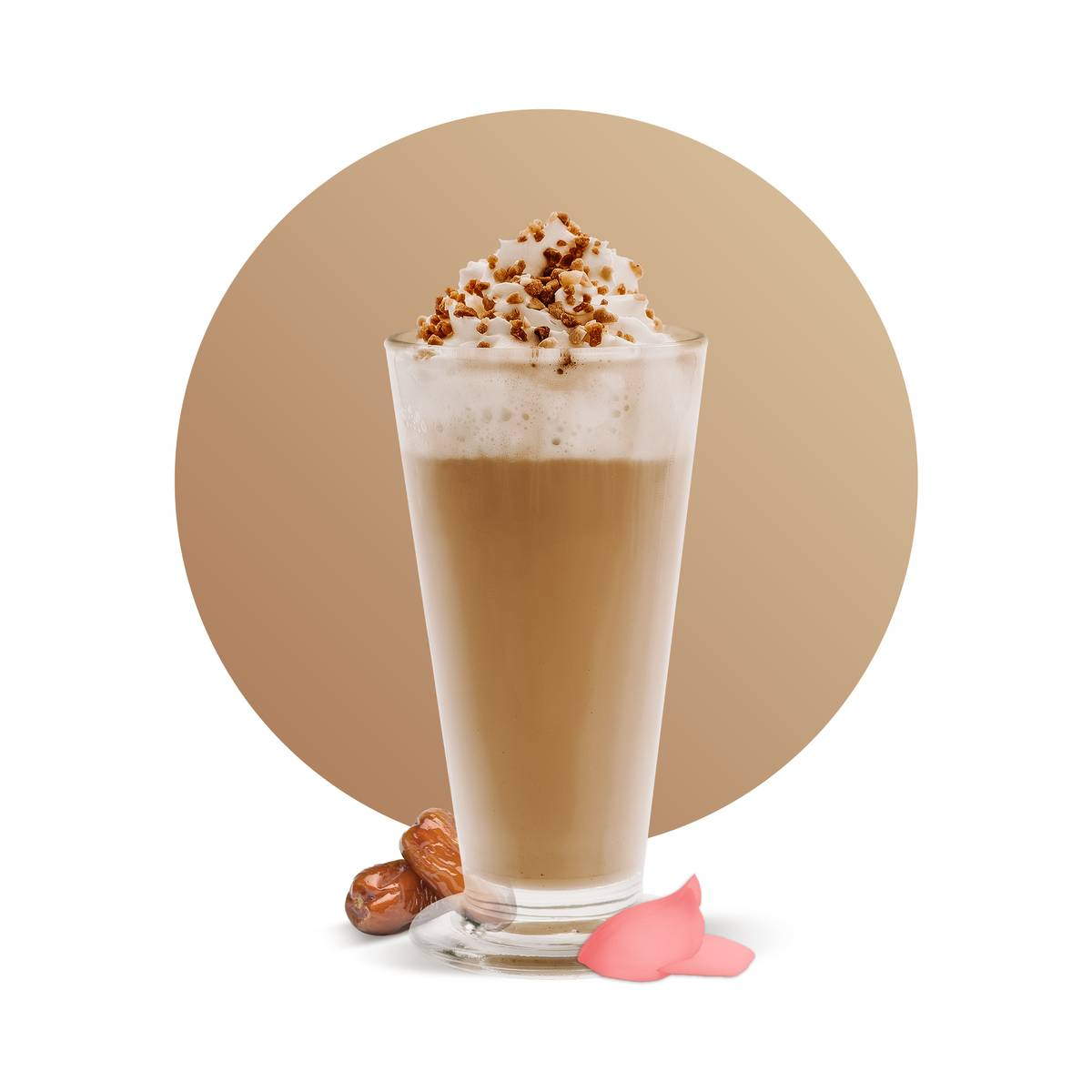Date Rose Frozen Latte Drink
