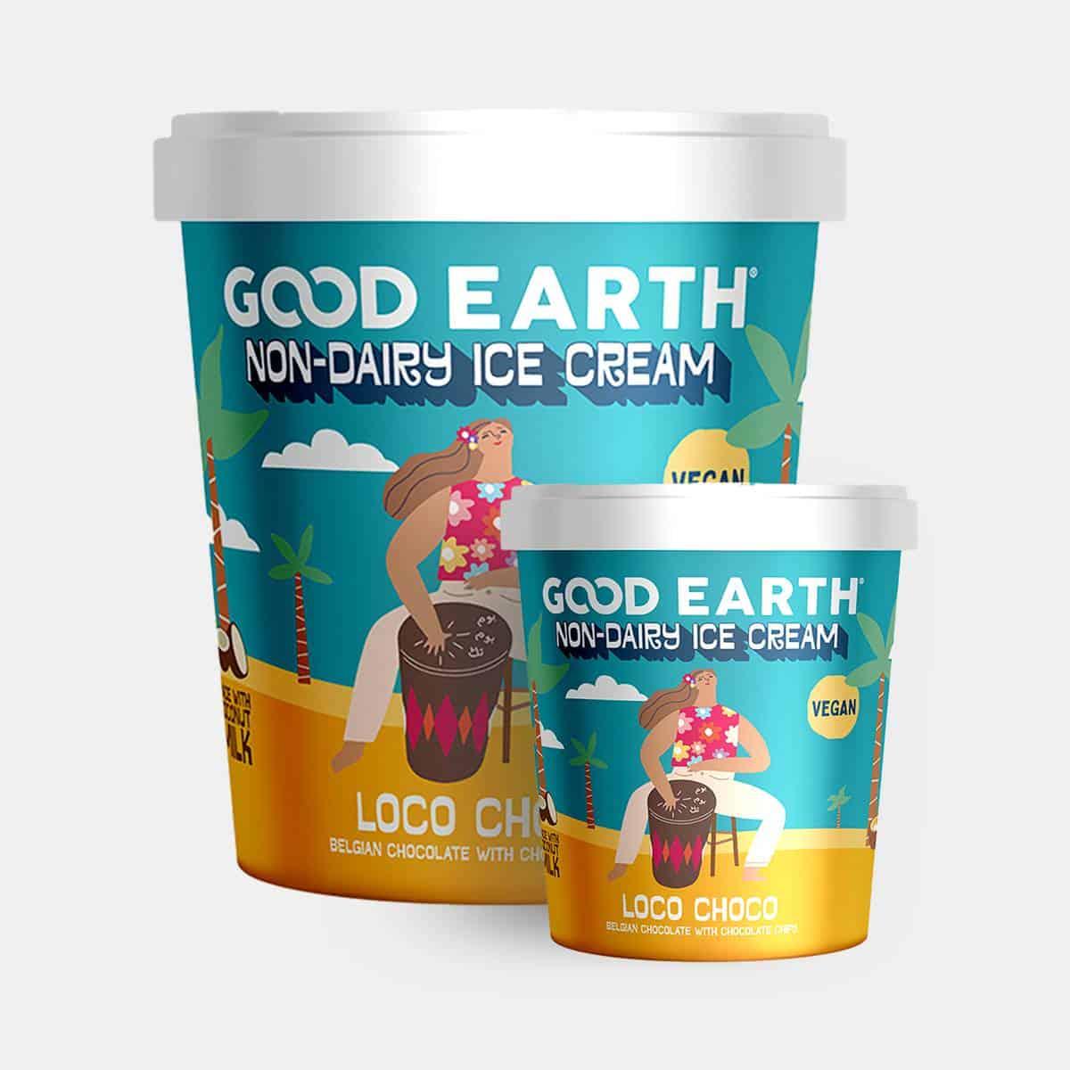 Good Earth Loco Choco Non-Dairy Ice-Cream 150ml and 500ml