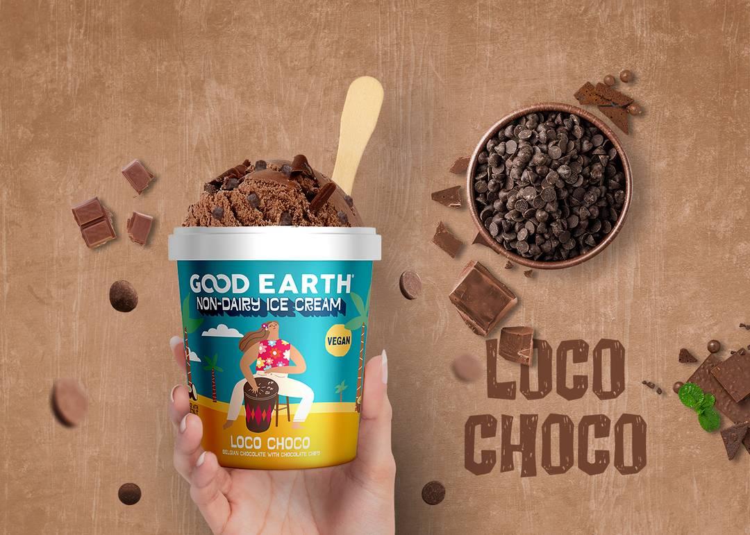 Good Earth Loco Choco Non-Dairy Ice Cream Banner