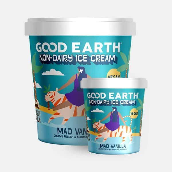 Good Earth Mad Vanilla Non-Dairy Ice-Cream 150ml and 500ml